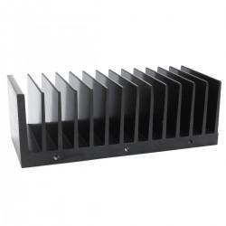 Radiateur Dissipateur Thermique Anodisé 145x50x60mm Noir