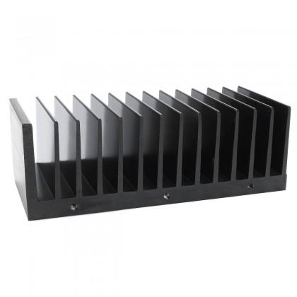 Thermal Radiator Anodized Heatsink 145x50x60mm Black