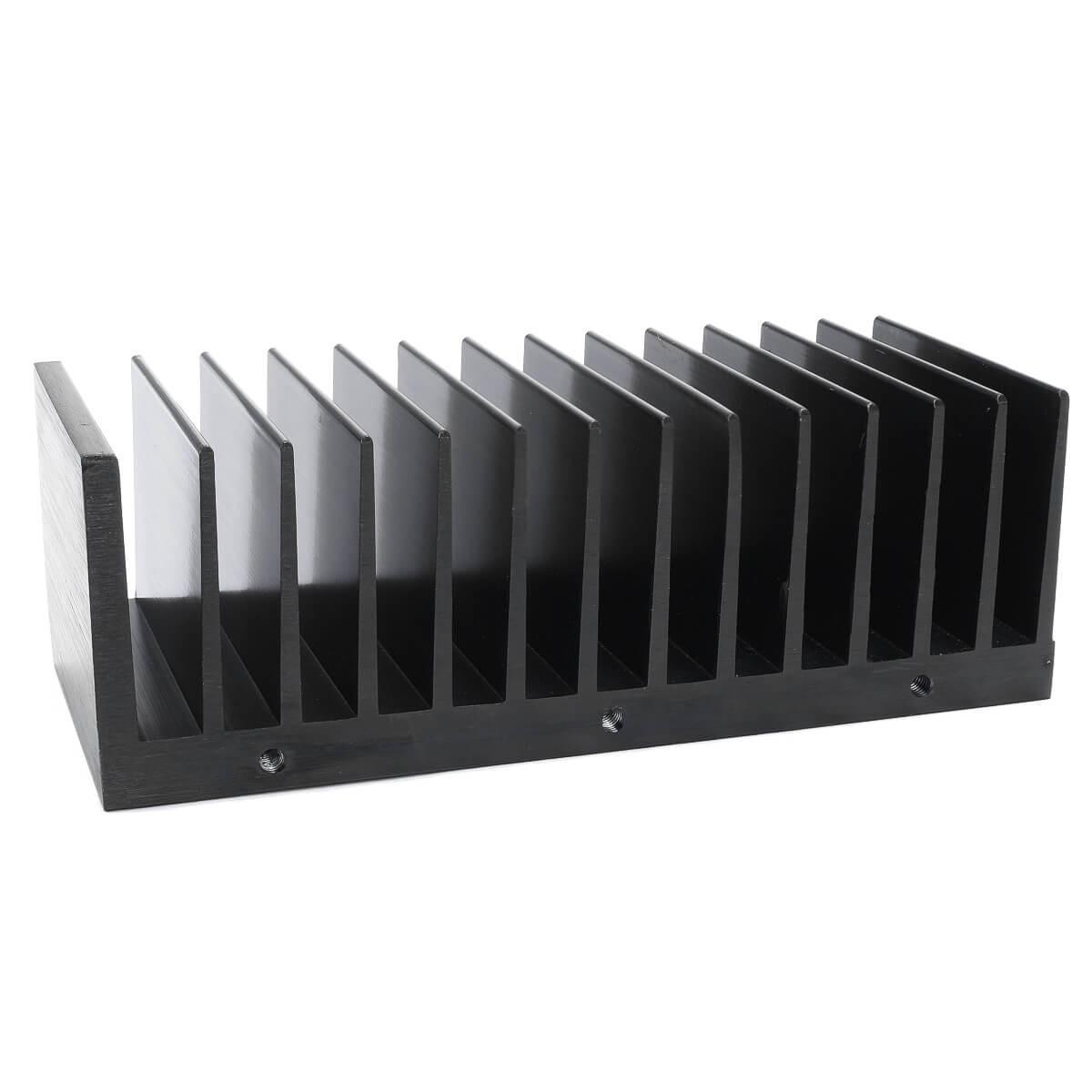 Heatsink Radiator Black Anodized 145x50x60mm