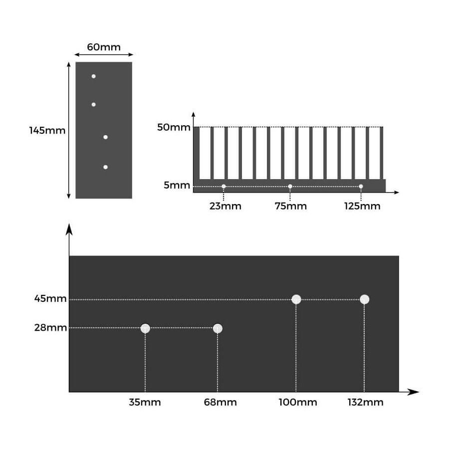 heatsink dimensions and distances