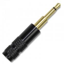 Connecteur Jack 2.5mm Mono 2 Pôles Plaqué Or Ø4mm Noir (Unité)