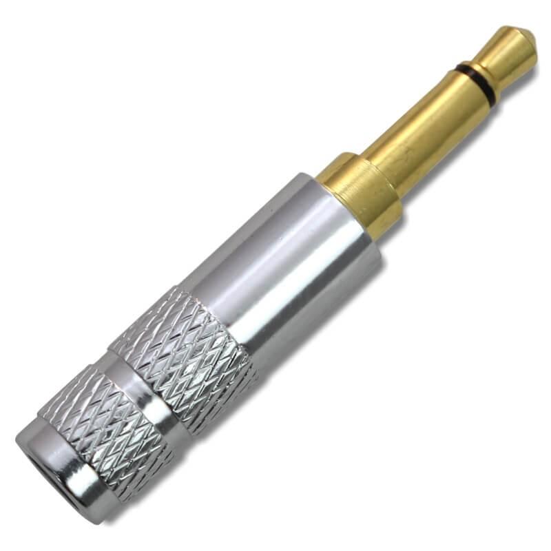 Connecteur Jack 3.5mm Mono 2 Pôles Plaqué Or Ø4mm Argent (Unité)