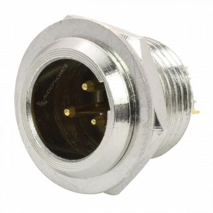 Gold Plated Male 3 Pins Mini XLR Socket (Unit)