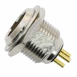 Embase Mini XLR 3 Pins Mâle Plaqué Or (Unité)