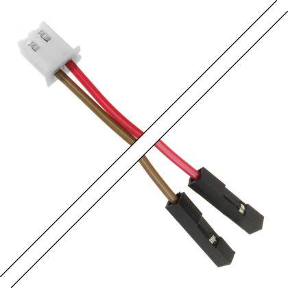Câble XH 2.54mm Femelle / 2.54mm Standard Femelle 2 Connecteurs 2 pôles 15cm