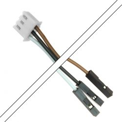 XH 2.54mm Female / I2S 2.54mm Female Cable 3 Poles 2 Connectors 15cm (Unit)