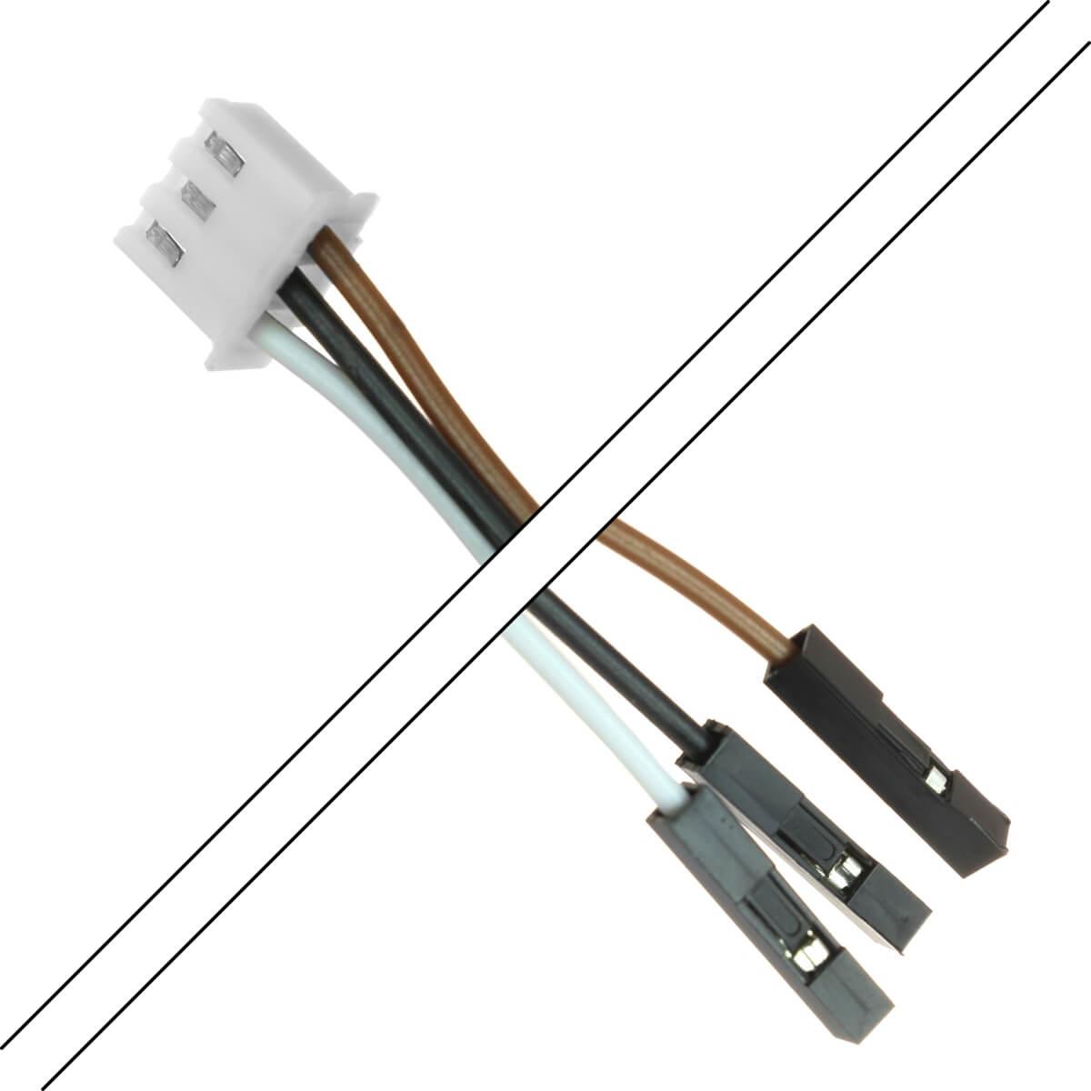 Câble XH 2.54mm Femelle / 2.54mm Standard Femelle 2 Connecteurs 3 pôles 15cm