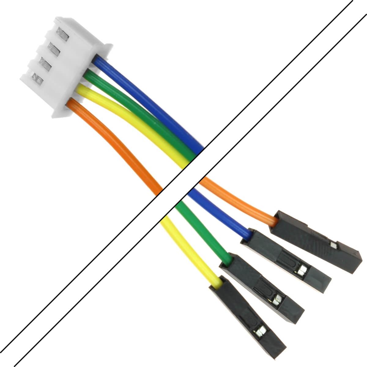 Câble XH 2.54mm Femelle / 2.54mm Standard Femelle 2 Connecteurs 4 pôles 15cm