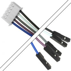 XH 2.54mm Female / I2S 2.54mm Female Cable 5 Poles 2 Connectors 15cm (Unit)