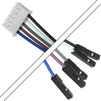 Câble XH 2.54mm Femelle / 2.54mm Standard Femelle 2 Connecteurs 5 pôles 15cm