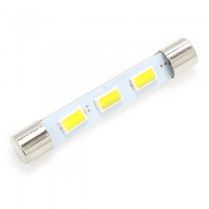 Ampoule Navette LED Blanc Chaud pour Éclairage Vu-Mètre / Tuner 6,3V