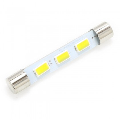 LED Fuse Lamp Warm White for Vu-Meter / Tuner 6,3V
