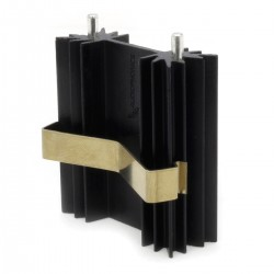 Aluminium Heatsink 38,1 x 35 x 12,7mm Black