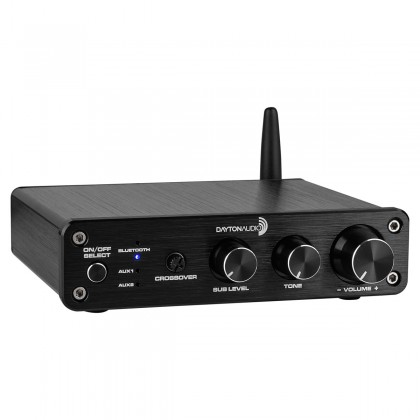 DAYTON AUDIO DTA-2.1BT2 Amplificateur 2.1 Class D Bluetooth avec Contrôle de Tonalité 2x50W + 100W