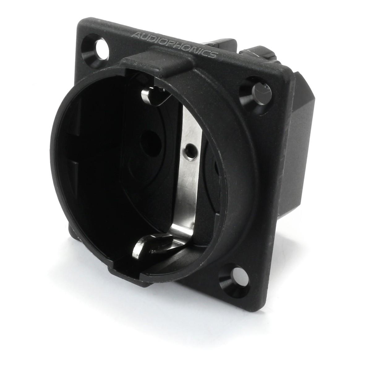 ABL SURSUM Schuko inlet 250V 16A IP20 Black
