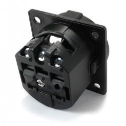 Schuko inlet 16A IP20 Black