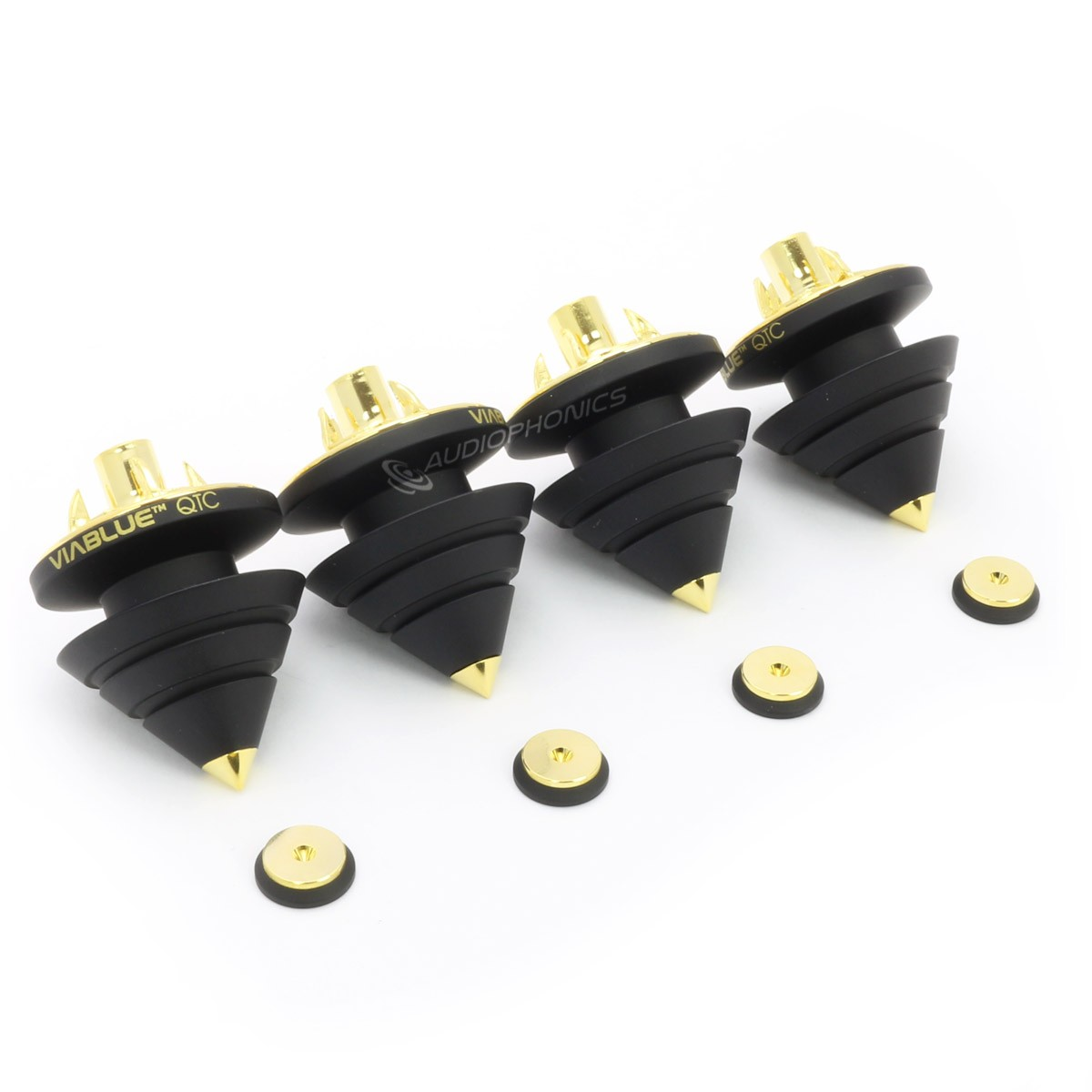 VIABLUE QTC BLACK Spikes Black (Set x4)