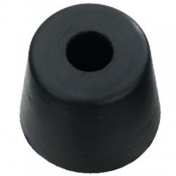 Pied Caoutchouc Amortissant à Visser 30x25mm Noir (Unité)