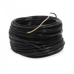 Câble Cuivre Plaqué Argent Isolé PTFE 1.23mm² Noir
