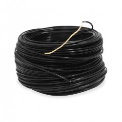 Silver Plated Copper Cable PTFE Insulated 1.23mm² Black