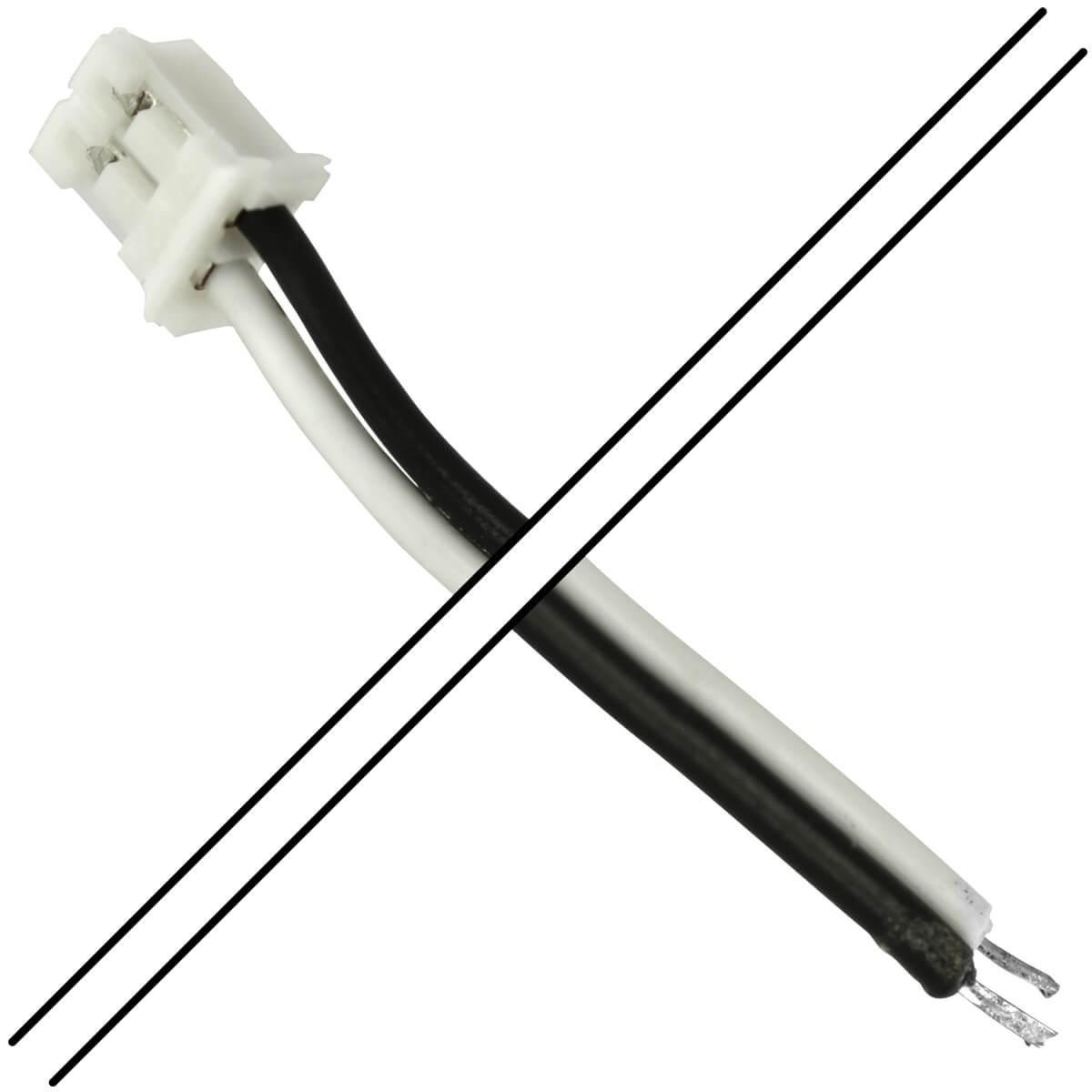 Câble PH 2.0mm Femelle 2 Pôles avec Connecteurs vers Fils Nus 15cm (Unité)