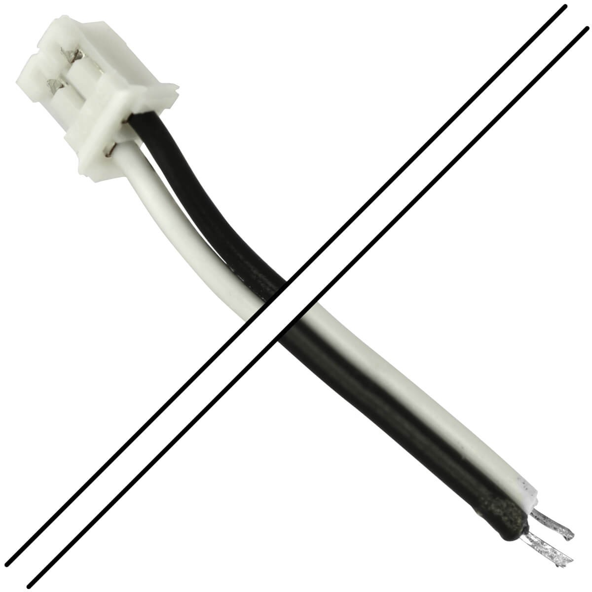 PH 2.0mm Female 1 Connector to Bare wires 2 Poles 15cm (Unit)