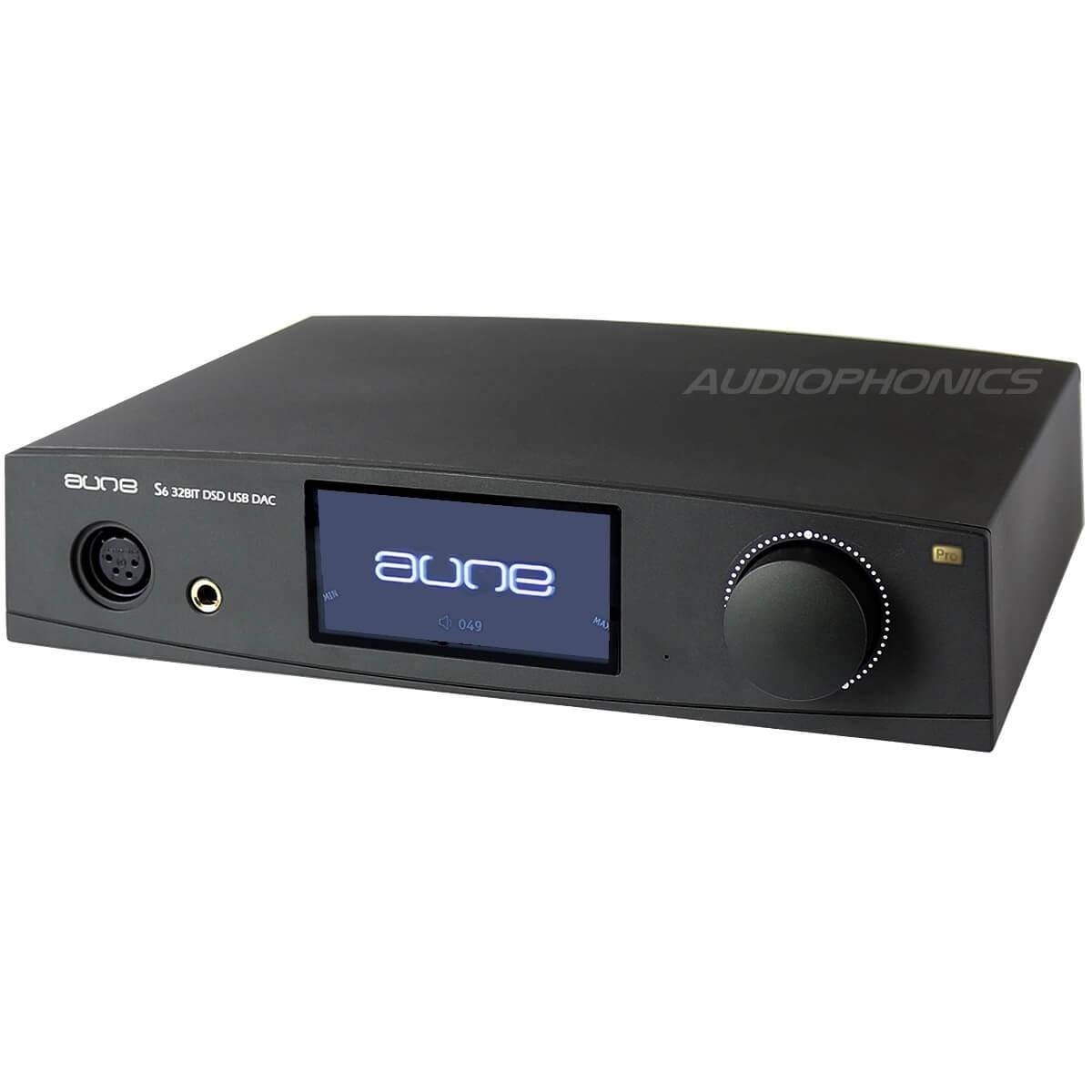 AUNE S6 PRO Ampli casque XLR DAC DSD / DXD AK4497 32bit / 768kHz XMOS Noir