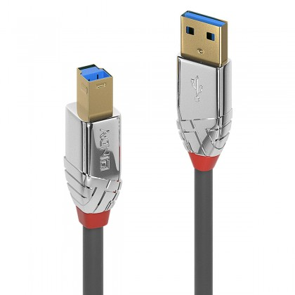 LINDY CROMO LINE Male USB-A to Male USB-B Cable 3.0 Gold Plated 3m