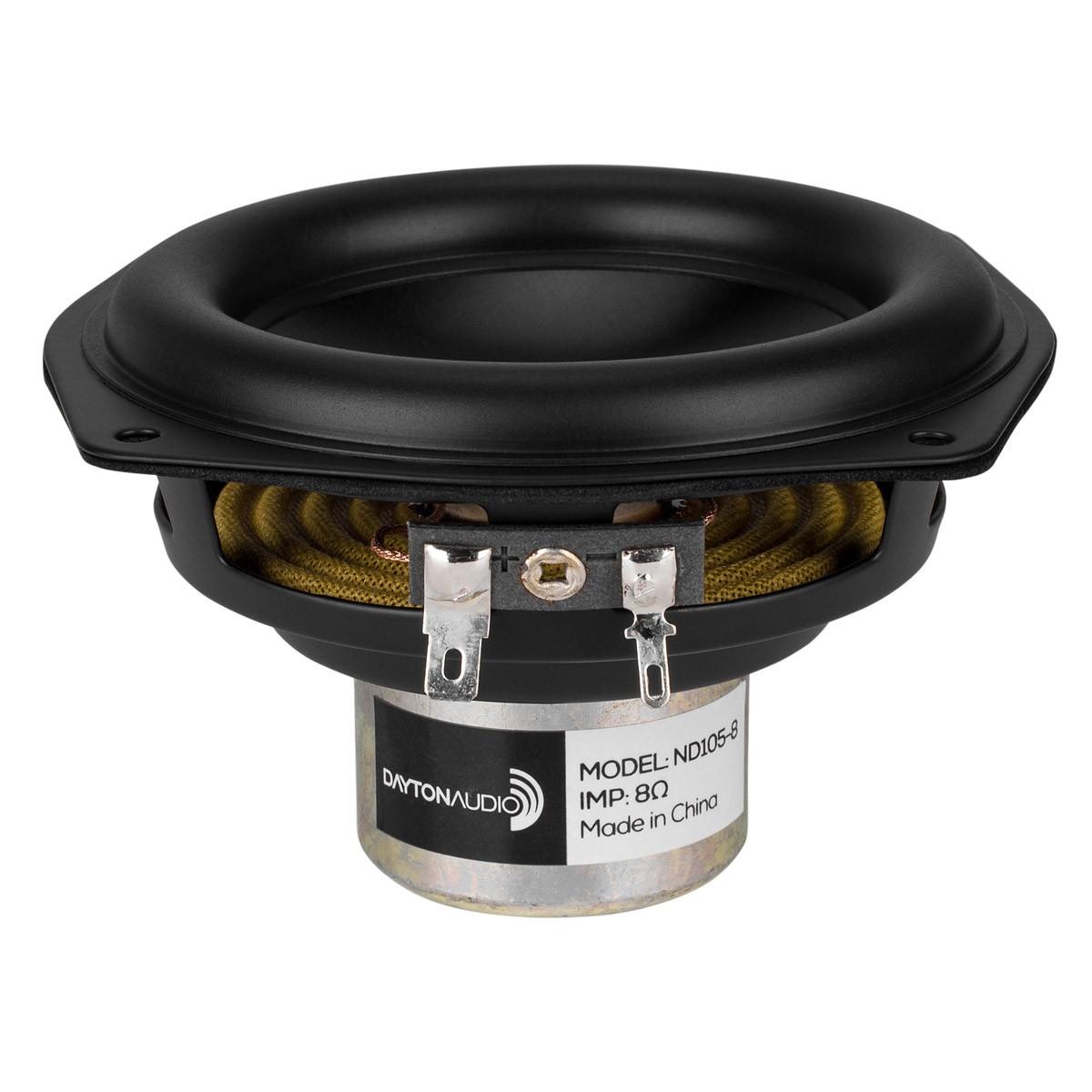 DAYTON AUDIO ND105-8 Haut-Parleur Bas Médium Aluminium 30W 8 Ohm 83dB 60Hz - 10kHz Ø10.2cm