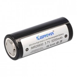 IMR26650 Batterie Lithium-Ion 26650 3.7V 5200mAh Rechargeable
