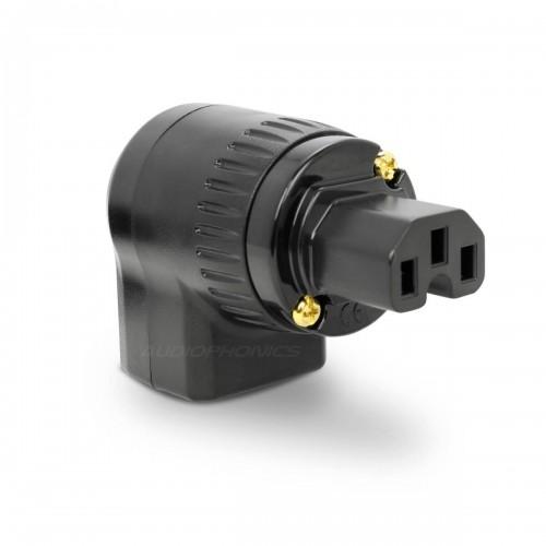 HIFI Audio Red Copper Rhodium Plated 20A Connectors IEC Female power Plug