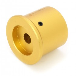 Aluminum Button D Shaft 30x25mm Ø6mm Gold