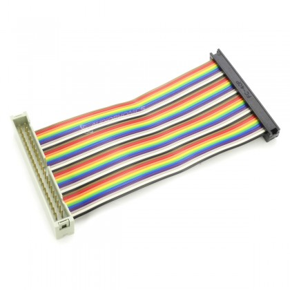 Male / Female Extension GPIO 40 Pins Ribbon Cable for Raspberry Pi A / B 10cm