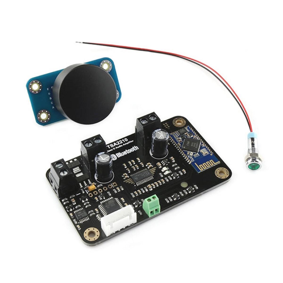 TINYSINE TSA2210 Kit Class D Amplifier Module TPA3110D2 Bluetooth 2x8W + Volume Controller + LED