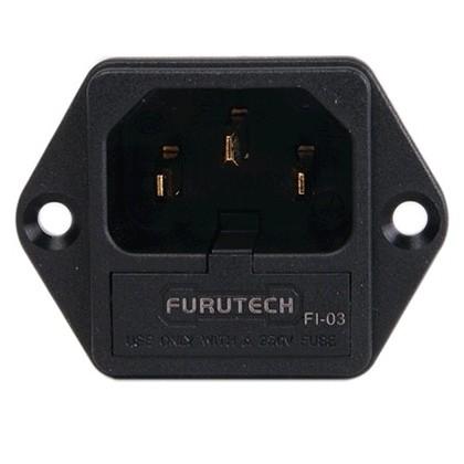 FURUTECH FI-03G Embase IEC plaquée OR fusible 5x20mm