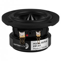 DAYTON AUDIO RS75-8 Speaker Driver Full Range 15W 8 Ohm 80.5dB 160Hz - 20kHz Ø7.6cm
