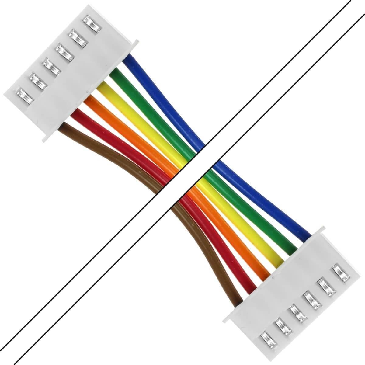 PH 2.0mm Female / Female Cable 6 Poles 2 Connectors 100cm (Unit)