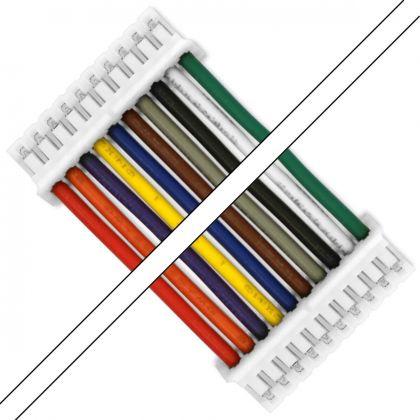 Cable ph femelle avec boîtier 10 pôles