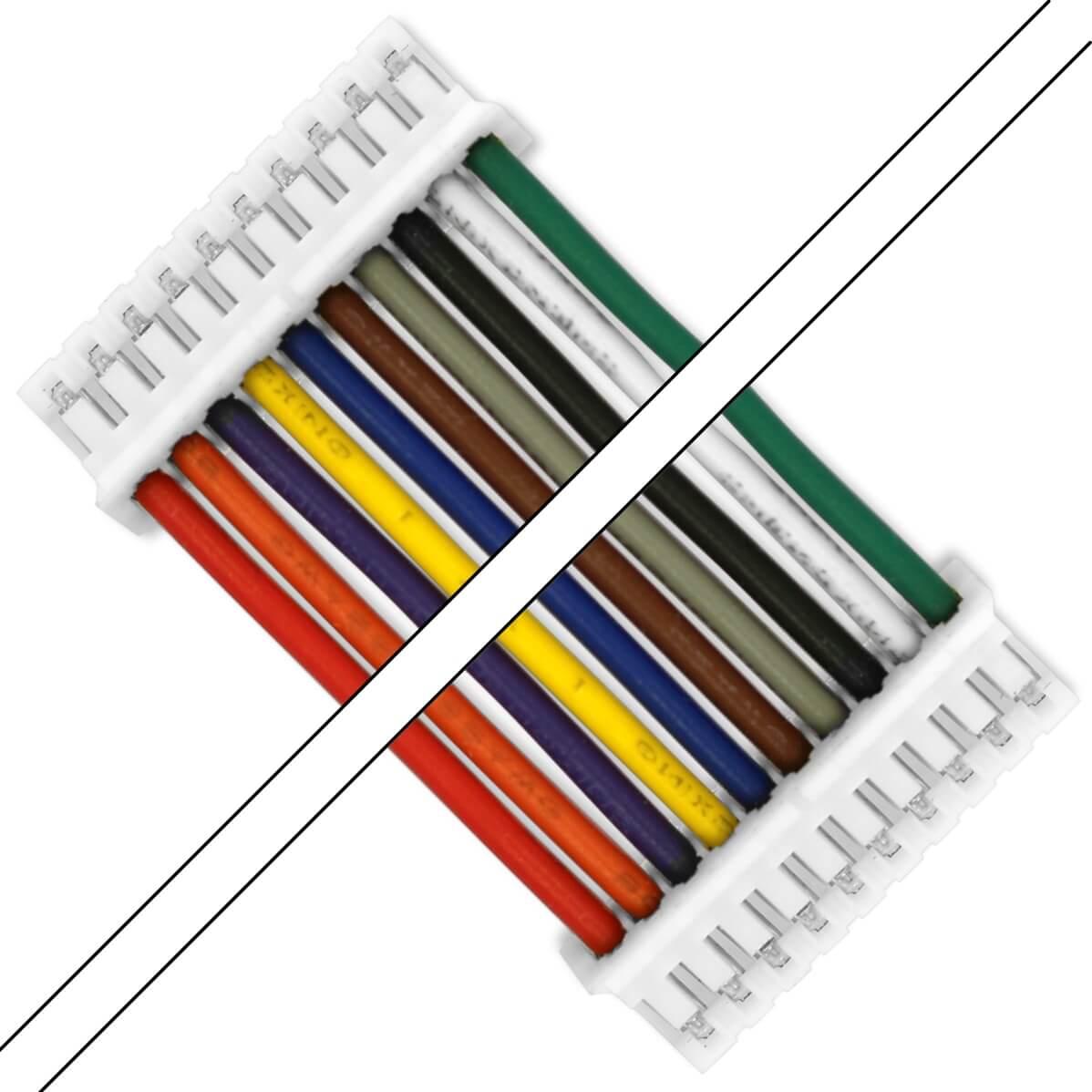 Câble PH 2.0mm Femelle / Femelle 10 Pôles 2 Connecteurs 100cm (Unité)