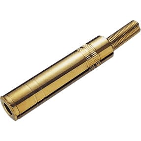 Connecteur Jack femelle 3.5mm stéréo plaqué Or Ø 6mm (Unité)
