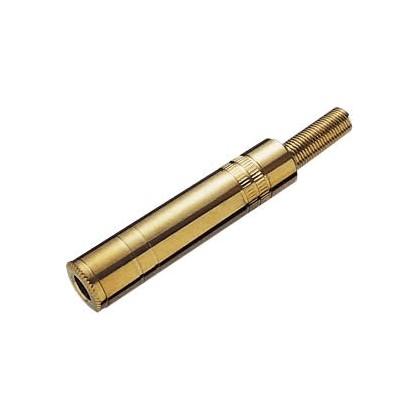 Connecteur Jack femelle 6.3mm mono plaqué or