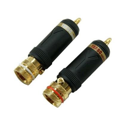 Yarbo RCA-016 Connecteurs RCA plaqué Or (la paire) Ø 9mm