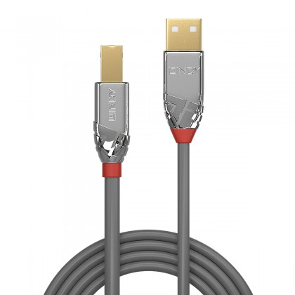LINDY CROMO LINE Male USB-A / Male USB-B 2.0 Cable Gold Plated 0.5m