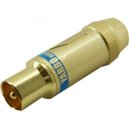 Yarbo CT-204G Fiche d'Antenne Coaxiale Mâle Plaquée Or Ø8.5mm