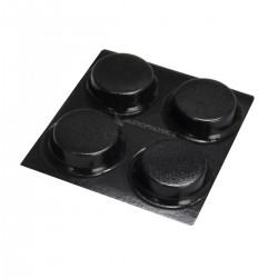 3M BUMPON Pieds Polyuréthane Cylindriques 13x3.5mm Noir (Set x4)