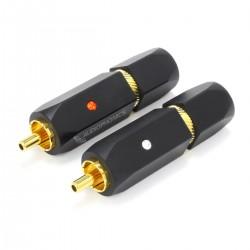 YARBO RCA-019GB Connecteurs RCA Cuivre Plaqué Or 24k PTFE Ø7mm (La paire)