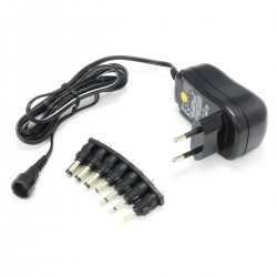 Stabilized AC/DC Switching Power Adapter 3V / 4.5V / 5V / 6V / 7.5V / 9V / 12V 1A DC