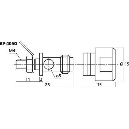Dimensions schema BP-405G