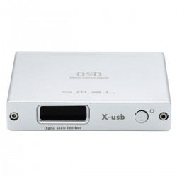 SMSL X-USB II Digital Interface USB XMOS U208 to I2S LVDS HDMI / Optical / Coaxial 32bit 768kHz DSD512 Silver