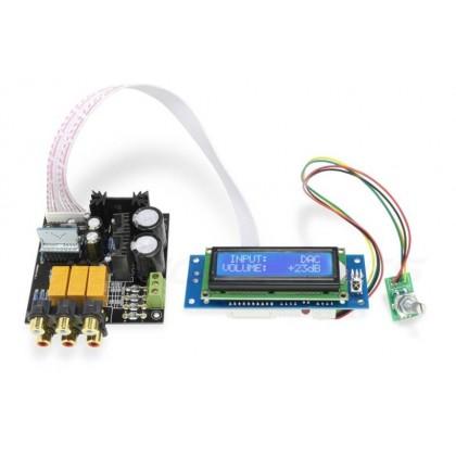 Source selector / Volume control Module PGA2310 with LCD screen